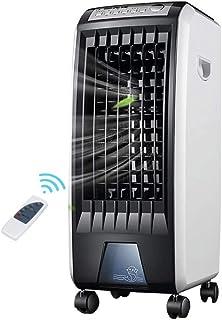 WDX- Ventilador de refrigeración humidificación refrigerador móvil casa Ventilador de refrigeración de refrigeración por Agua pequeño acondicionador de Aire Frio (Color : Black)