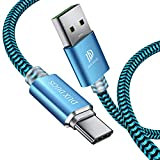 DUX DUCIS Huawei P30 / Huawei P30 Pro/Huawei P30 Lite Cable, Cargador USB Tipo C de Nylon Trenzado Cable para Todos los Dispositivos Huawei Type-C (4.9ft/1.5M)