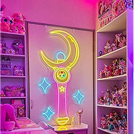 Sailor Moon Hub Bar Display Advertising Neon Sign