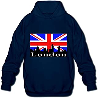 British Flag London Skyline Men's Printed Hooded Sweatshirt Sweater