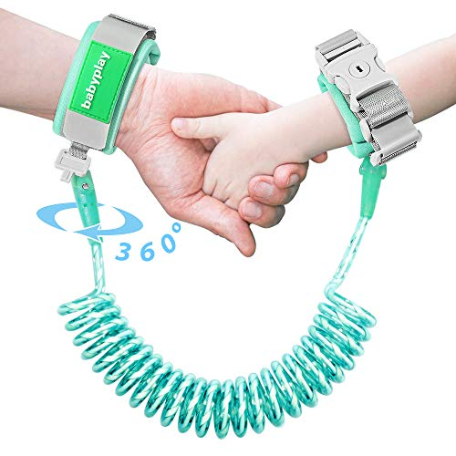 Reflective Anti Lost Wrist Link, Safety Wristband Walking Harness Leash with Lock for Toddlers, Babies & Kids(2.5m/ 1 Pack)