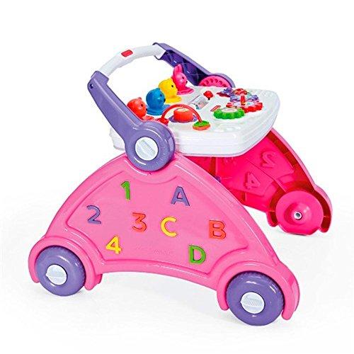 Andador Didático Infantil Rosa com sons de animais Poliplac
