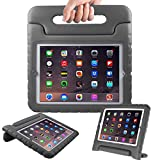 AVAWO Kids Case for (iPad 2 3 4 Old Model) - Light Weight Shock Proof Convertible Handle Stand Kids Friendly for iPad 2, iPad 3rd Generation, iPad 4th Generation Tablet - Black
