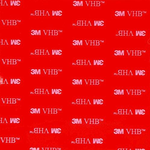 Simply the Best Lot de 2 Autocollants Carrés en Acrylique Noir avec Adhésif Double Face 3M, Très Haute Adhérence, Résistant aux Intempéries - 100 mm x 100 mm x 1 mm d'épaisseur Modèle : 4910.