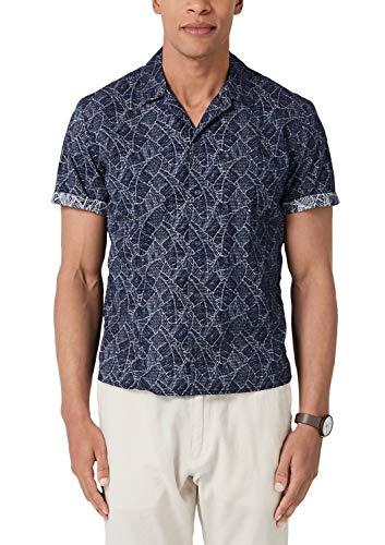 s.Oliver Herren 13.904.22.2269 Freizeithemd, Blau (Classic Navy 58a1), XXX-Large (Herstellergröße: 3XL)