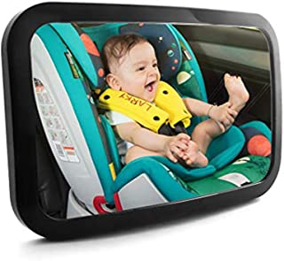 Baby Car Mirror, Shatter-Proof Acrylic Baby Mirror for Car, Rearview Baby Mirror-Easily to Observe The Baby's Every Move, Safety and 360 Degree Adjustability