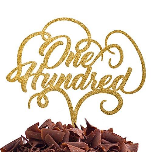 Directly Personalised One Hundred 100 Anniversaire de fête d'anniversaire de gâteau centième Anniversaire de Mariage Acrylique