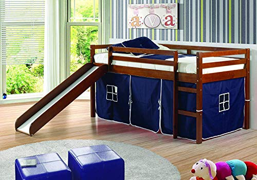 DONCO 780ATCP_750C-TP Circles Low Loft Bed with Blue Tent,...