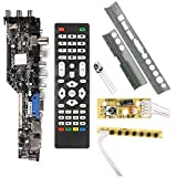 Baalaa Digital Universal Tv controlador controlador controlador v56 v59 led lcd tv controlador tablero dvb-t2+7 interruptor de teclas+ir+lvds kit 3663