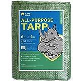GUARD SHIELD Tarp 6x6 Feet Green Multi Purpose Waterproof Poly Tarp Cover 4mil