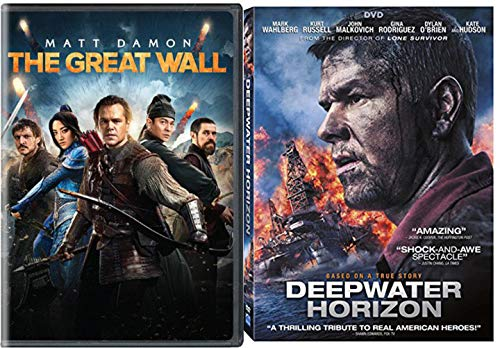 Offshore oil rig & An Elite force Double Feature Deepwater Horizon + Great Wall Action Movie DVD 2 Movie Set