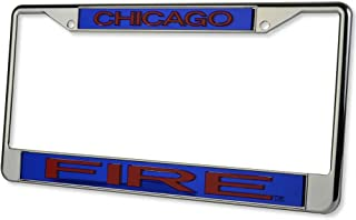WinCraft Soccer Chicago Fire 12491115 Crystal Mirror License Plate Black