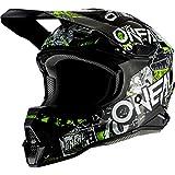 O'NEAL | Casco da motocross | Motocross | Standard di sicurezza ECE 22.05, guscio in ABS, Prese d'aria per una ventilazione ottimali | 3SRS Helmet Attack 2.0 | Adulto | Nero Giallo | Taglia S