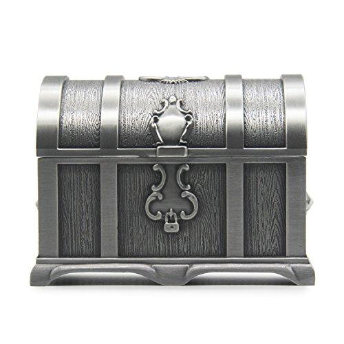 AVESON - Cofre del tesoro de metal, para guardar joyas y otros objetos femeninos, Tin, Large