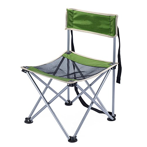 HM&DX Chaises Pliantes exterieures Portable Chaises de Camping Pêche chaises Tabouret Confortable Lumière avec Sangle Jardin Camping pêche randonnée Picnic -Vert