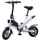 Bicicleta Eléctrica Plegable 350W 25km/h Ruedas de 12 Pulgadas Carga 150KG Bicicleta de Ciudad/Montaña de Aluminio Display LCD Bateria de Litio Doble Frenos de Disco 3 Modos [EU Stock]