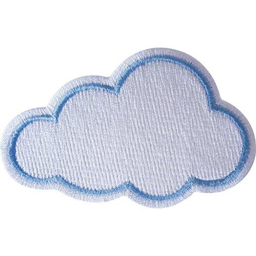Hierro bordado en nube parche insignia/Sew en gamuza de para chaqueta vaquera. Manualidades