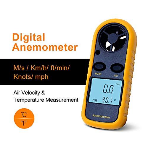 DZSF Hand Anemometer Anemometro Thermometer GM816 Windgeschwindigkeit Messgerät Meter Windmesser 30M / S-LCD-Digital-Werkzeug