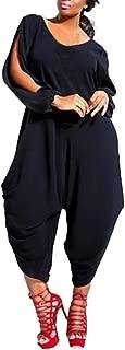 Baggy Jumpsuits Plus Size Women V Neck Long Sleeve Romper Playsuit Pants