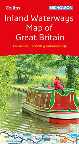 Collins Nicholson Inland Waterways Map of Great Britain: The number 1 bestselling waterways map (Collins Nicholson…