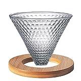 Strawberry Glass Coffee Dropper V Forma Coffee Filtering Filtering Set para el filtro de café (Color : Transparent, Size : M)