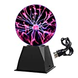 Gresus 6 Inch Magic Plasma Ball Lamp - Touch &...