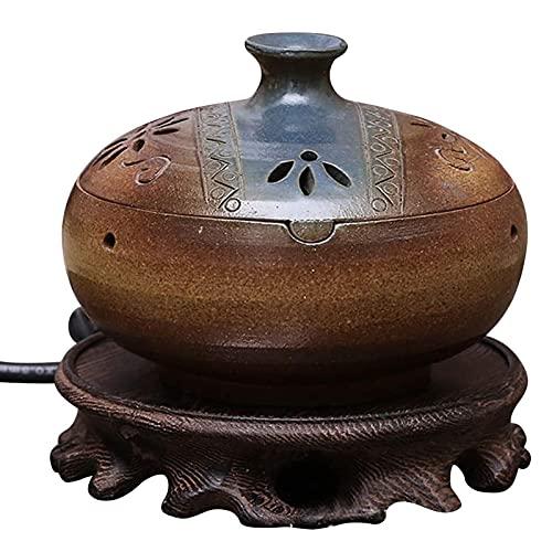 Difusor de Aceite de Cerámica, Difusor de Aceite Esencial de Aroma Electrónico con Control de Temperatura, para el Hogar/la Oficina