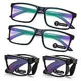 TERAISE 4-Pack Occhiali da lettura blu che bloccano la luce Mini lettori pieghevoli Occhiali per uomini e donne Occhiali per lettori di computer leggeri Telaio con custodia per occhiali(1.5X)