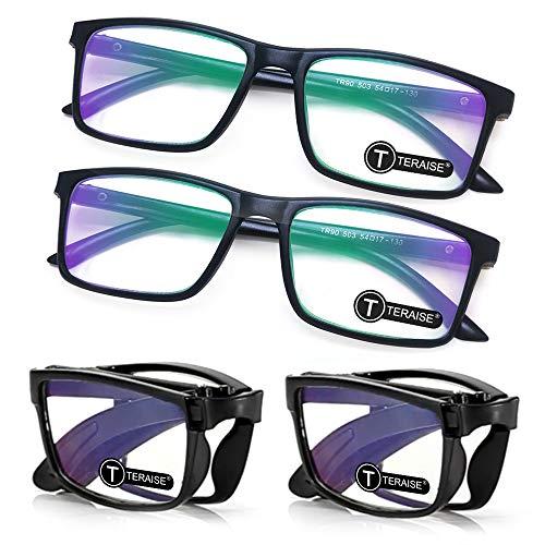 TERAISE 4er-Pack Blaulicht blockierende Lesebrille Folden Mini Readers Brille für Männer und Frauen Leichte Computer Reader Brille Rahmen mit Brillenetui(4.0X)