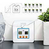 Automatic Watering System, Automatic Drip Irrigation Kit Self Watering System with Timer, USB Power Operation & 30-Day Programming Vacation Plant Watering Devices for 10 Pot Flowers