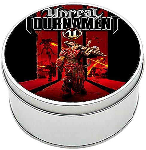 MasTazas Unreal Tournament 3 Caja Redonda Lata Round Metal Tin Box
