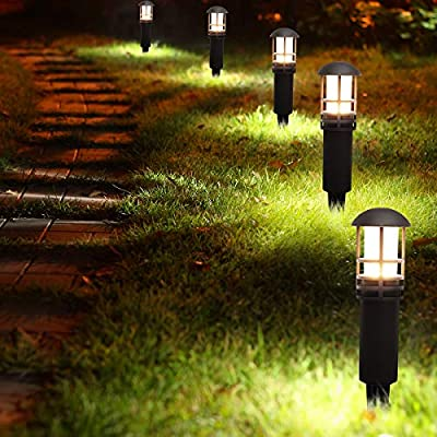 Outdoor Lights Landscape Lights Garden Lights 4-Pack 12V 3W Low Voltage Patio Lawn Yard Pathway Lights,Aluminum Construction IP65 Waterproof 4000K Natural White 5 Years Warranty
