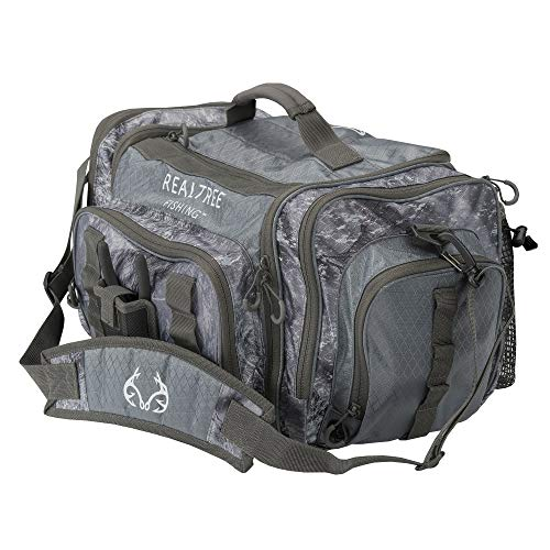 Insights Fishing Heavy Duty i4 Tackle Bag 3700 Series Outdoor Fishing Duffel Waterproof Carry Bag, Realtree Gray