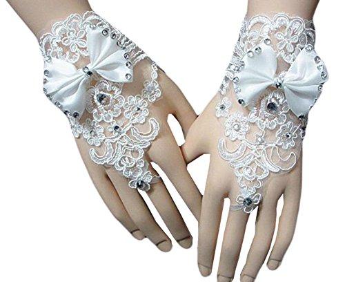 Élégantes Gants de mariage mariée cortège des gants de dentelle de robe-14