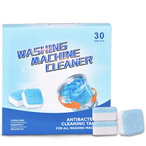 Washing Machine Cleaner, Solid Washer Cleaner, Deep Cleaning with Triple Decontamination, for Front Load and Top Load Washers (30 Count)