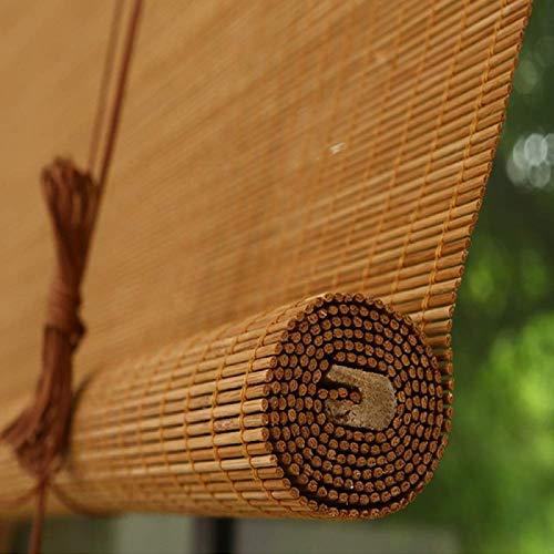NMBC Bambus Rollläden Carbonized Sonnenschutz Bambusrollo Rollos für Fenstertür Lichtfilter Bambus Raffrollo Handgewebt Für den Garten-140x200 cm