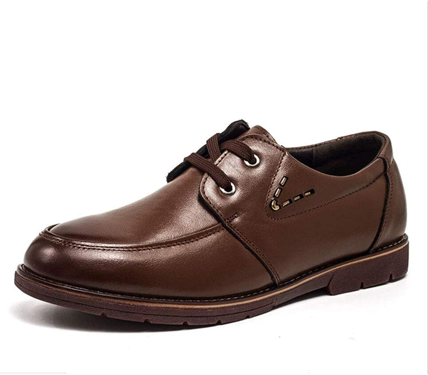 Men's shoes,Leather Spring Fall Lace up Formal Business shoes, Stylish Casual shoes,Office & Career Party & Evening