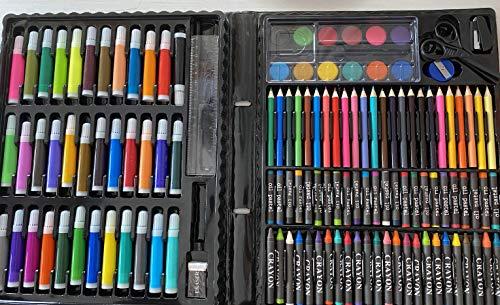 Kit de Manualidades para Niños, art set, colores, 150 piezas, rotuladores, acuarelas, regalo perfecto