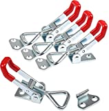 Cerradura de palanca ajustable en 4 piezas, hebilla de metal, cierre con clip de manivela, pequeño clip para...