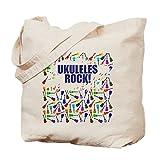 CafePress ukelele–color morado–Gamuza de bolsa de lona bolsa, bolsa de la compra Medium caqui