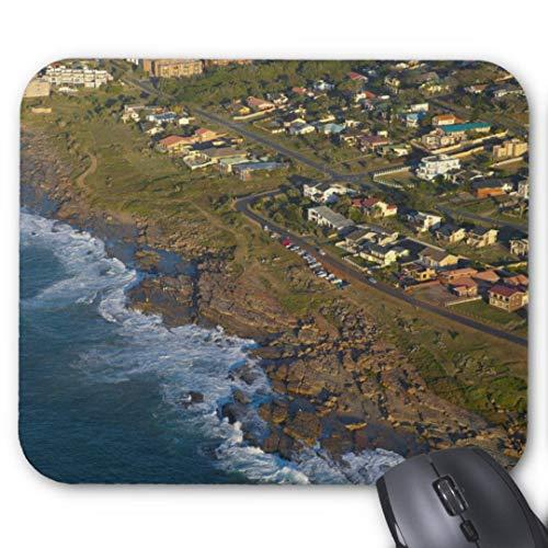 Gaming Mauspad rutschfest Gummi Mauspad Rund Mauspad für Computer Laptop Mauspad Antenne Blick auf Orange Rock Südküste Mauspad