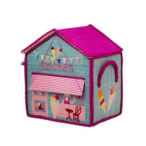 Rice Aufbewahrungskorb Spielzeugaufbewahrung Spielzeugkorb Haus klein