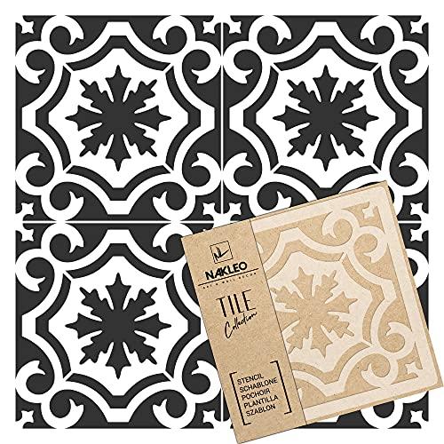 BADAJOZ - Plantilla de plástico reutilizable para azulejos // Geométrico marroquí // Pared de suelo (30 x 30 cm)
