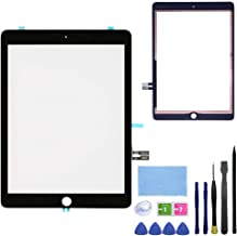 FeiyueTech Black iPad 6th Gen 2018 (A1893 A1954) Touch Screen Digitizer Replacement Front Glass Assembly -Includes Camera Holder+PreInstalled Adhesive + Tools kit (Without Home Button).