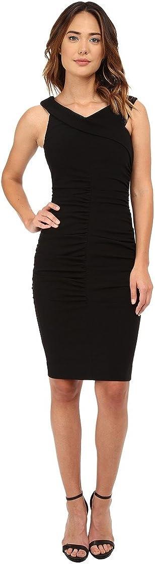Nicole Miller Women's Off-The-Shoulder Structured Heavy Jersey Dress
