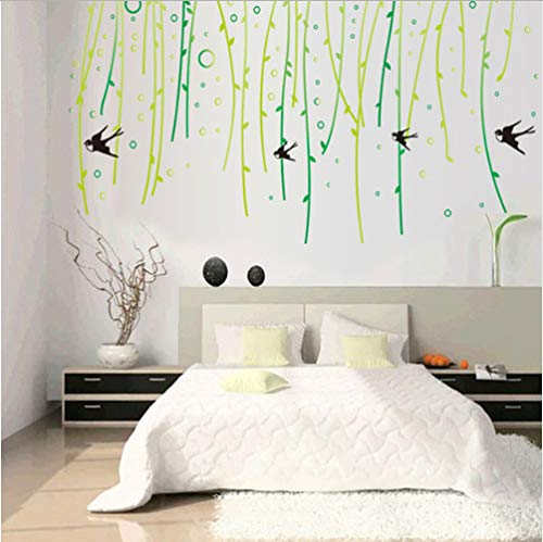 Willow Tree Swallows Wohnzimmer Haushaltsverzierung Wandsticker An Der Wand 88 * 160Cm