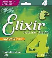Elixir 14102Nanoweb Electric 4-string Bass Heavy , Long Scale