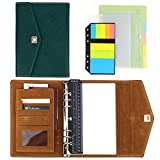 SynLiZy A5 PU Leder Personal Organizer Planer Notizbuch Set mit 12 Zubehör
