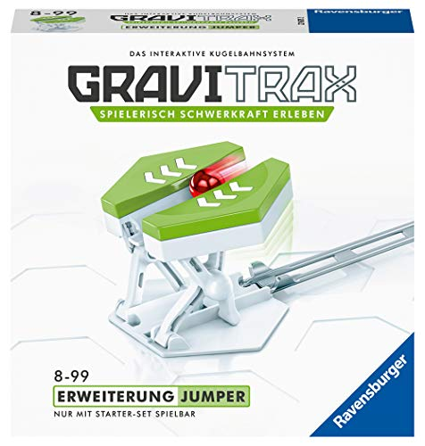 GraviTrax 27617 Ravensburger GraviTrax Erweiterung Jumper - Ideales Zubehör für spektakuläre Kugelbahnen, Konstruktionsspielzeug für Kinder ab 8 Jahren