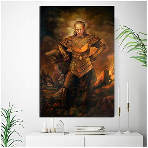 Ghostbusters II Vigo Movie Vintage Poster Art Canvas Poster Wandbild Modern Home Room Wanddekoration - 60 x 80 cm ohne Rahmen